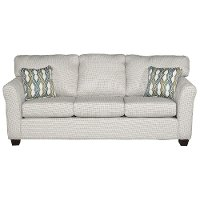 Casual Contemporary Ivory Sofa Bed - Wall St.
