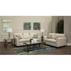 Ivory Casual Contemporary 7 Piece Room Group