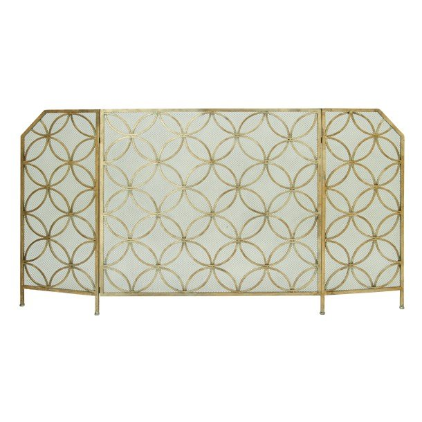 34 inch metal tri fold fireplace screen rcwilley image1~800