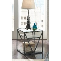Modern Glass End Table - Arista