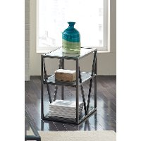 Modern Glass Small Side Table - Arista