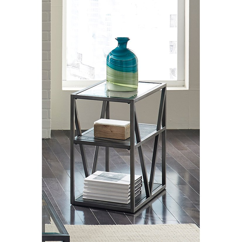 ... Modern Glass Small Side Table   Arista