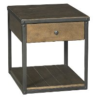 Industrial Brown End Table- Creston Creek
