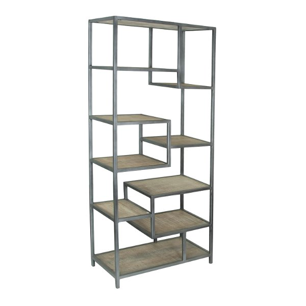 Clearance Magnolia Home Furniture Classroom Cubby BookcaseSave 40049999 Whitewash Mango 9 Shelf Etagere With Metal Frame
