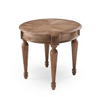 Traditional Oak Round End Table - Lloyd