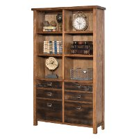 72 Inch Hickory Bookcase - Heritage