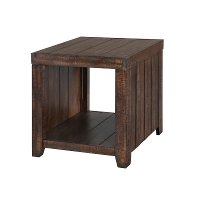 Rustic Rectangular End Table - Caitlyn