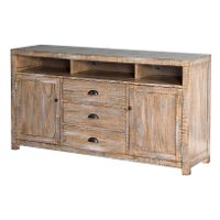 66 Inch Weathered Brown TV Stand - Brenton