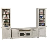 Distressed White 3 Piece Rustic Entertainment Center - Willow