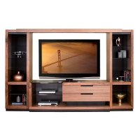 Walnut 4-Piece Entertainment Center - Stratus