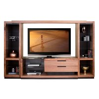 4-Piece Walnut Entertainment Center - Stratus