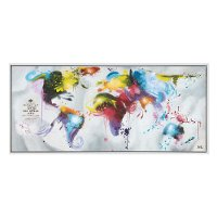 Multi-Color Abstract Map Color My World Canvas Wall Art