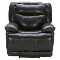 Dark Brown Leather-Match Power Recliner - K-Motion