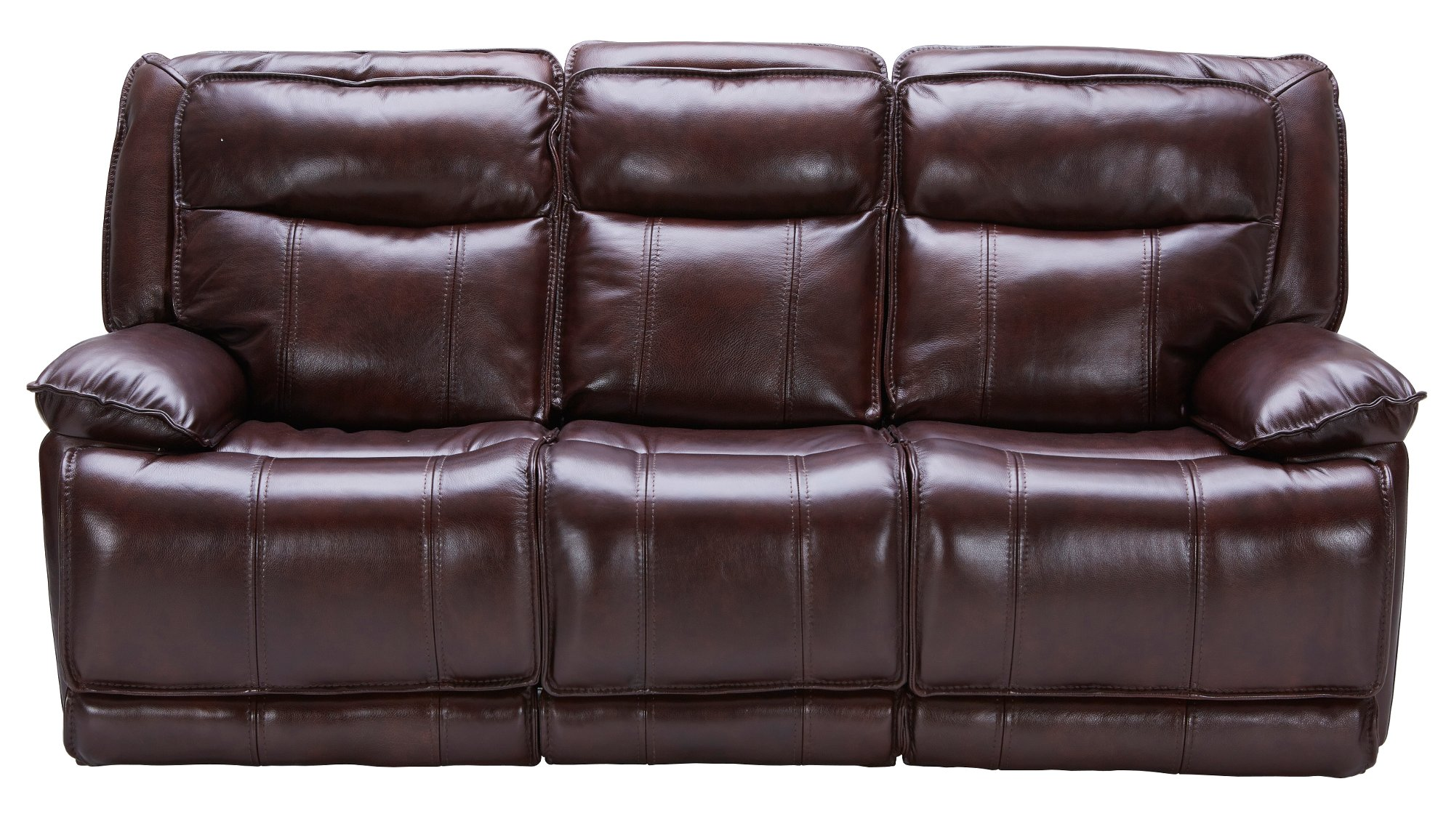 Bordeaux Burgundy Leather-Match Power Triple Reclining Sofa - K-Motion  sc 1 st  RC Willey & Bordeaux Burgundy Leather-Match Power Reclining Sofa u0026 Loveseat ... islam-shia.org