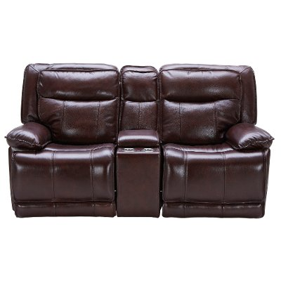 Burgundy Leather Match Power Reclining Living Room Set K Motion