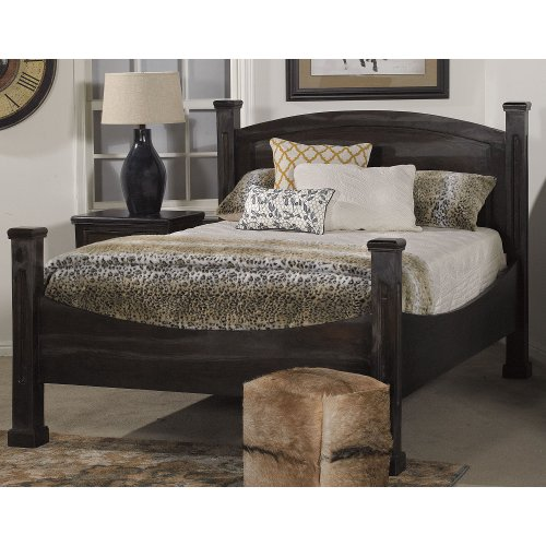 Rich Gray Classic Rustic Queen Size Bed - Tahoe