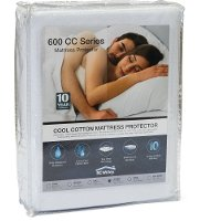 10YR-600CC-QUEEN CoolCotton Queen Mattress Pad and 10-Year Limited Protection Plan - 600 CC Series