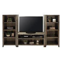 Rustic Brown 3 Piece Simple Entertainment Center - Joshua Creek