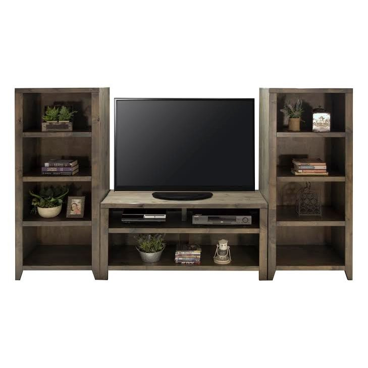 Rustic Brown 3 Piece Simple Entertainment Center Joshua Creek