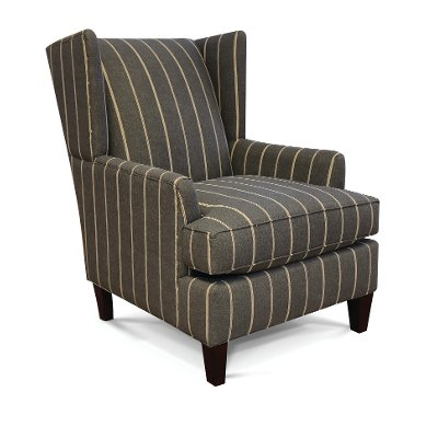 Pewter Gray Accent Wing Chair   Hilleary