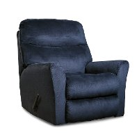 Midnight Blue Rocker Recliner - Cossette