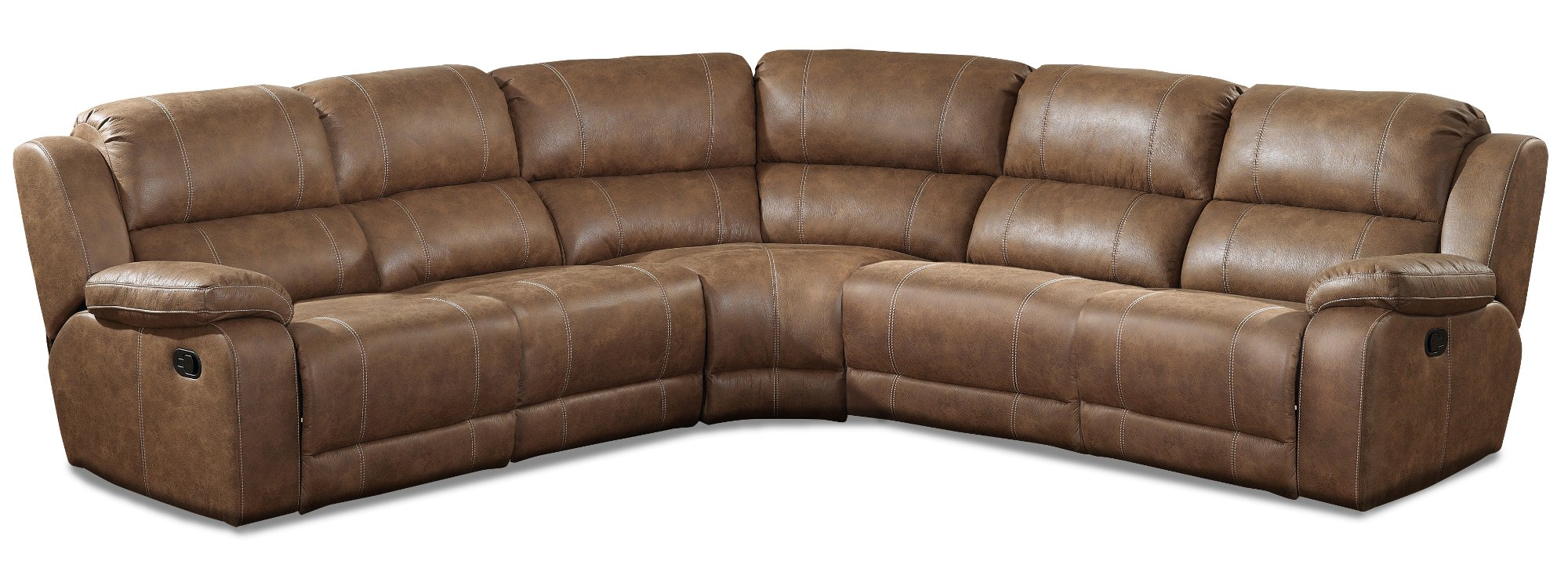 Brown 5-Piece Reclining Sectional - Charlotte  sc 1 st  RC Willey : brown sectional - Sectionals, Sofas & Couches