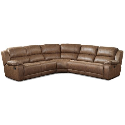 Brown 5-Piece Reclining Sectional - Charlotte  sc 1 st  RC Willey : sectional reclining - Sectionals, Sofas & Couches