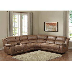 Brown 6 Piece Reclining Sectional Charlotte