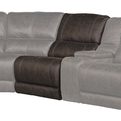 Cognac Brown Armless Recliner - Kharma