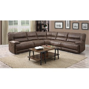 ... Cognac Brown 5-Piece 3x Manual Reclining Sectional - Kharma ...  sc 1 st  RC Willey & Reclining sectional u0026 leather reclining sectional | RC Willey ... islam-shia.org