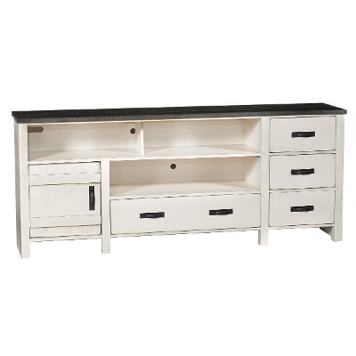 80 Inch Rustic White TV Stand TV Stand   Descanso