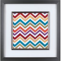 Multi-Color Chevron Colours III Framed Wall Art