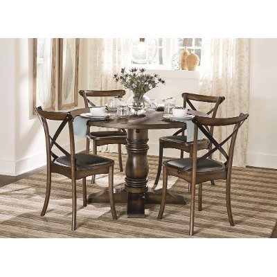 Chestnut 5 Piece Round Dining Set