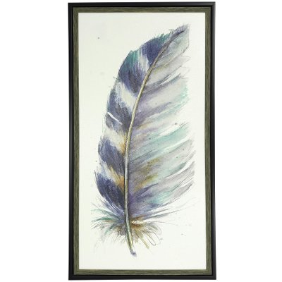 Feather Wall Art water color v' feather wall art | rc willey furniture store