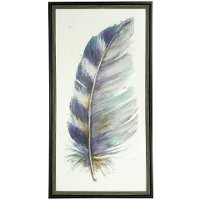 Water Color V Feather Wall Art