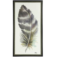 Water Color Feather VI Framed Wall Art