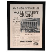 Wall Street Crash Framed Wall Art
