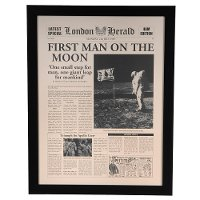 First Man On The Moon Framed Wall Art