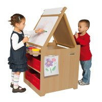 Child's Desk to Easel Art Cart - Art Collection