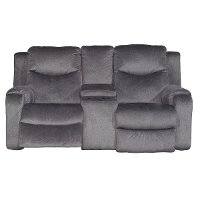 Dusk Gray Power Reclining Loveseat - Marvel