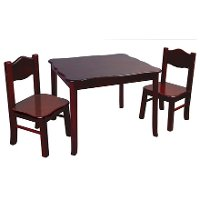 Kids Table & Chairs - Classic Espresso