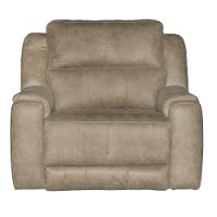 Vintage Taupe Power Recliner - Dazzle