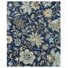 7 x 9 Large Floral Blue Rug - Brooklyn
