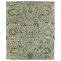 5 x 8 Medium Traditional Light Blue Area Rug - Helena