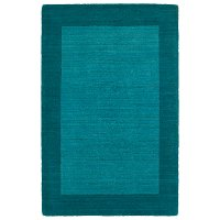 5 x 8 Medium Wool Turquoise Area Rug - Regency