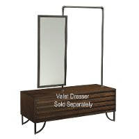 Magnolia Home Furniture Boho Brown Valet Mirror & Rod