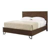 Magnolia Home Furniture Boho Brown Queen Platform Bed