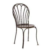 Magnolia Home Furniture Primitive Black Metal Peacock Dining Room Chair