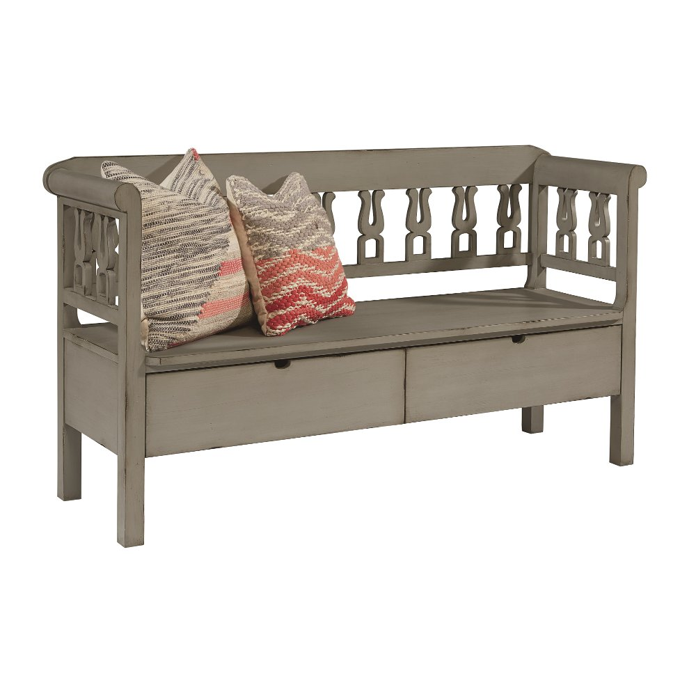 Magnolia Home Furniture Elements Gray Hall Bench With Storage | RC Willey  Furniture Store