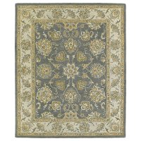 5 x 8 Medium Traditional Wool Pewter Gray Area Rug - Solomon